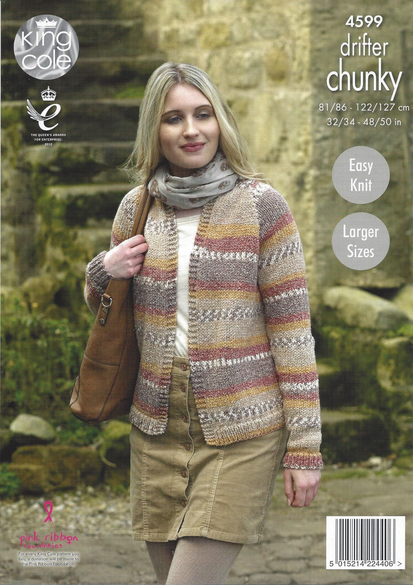 e5793dfed King Cole Drifter Chunky - 4599 Ladies Cardigans Knitting Pattern